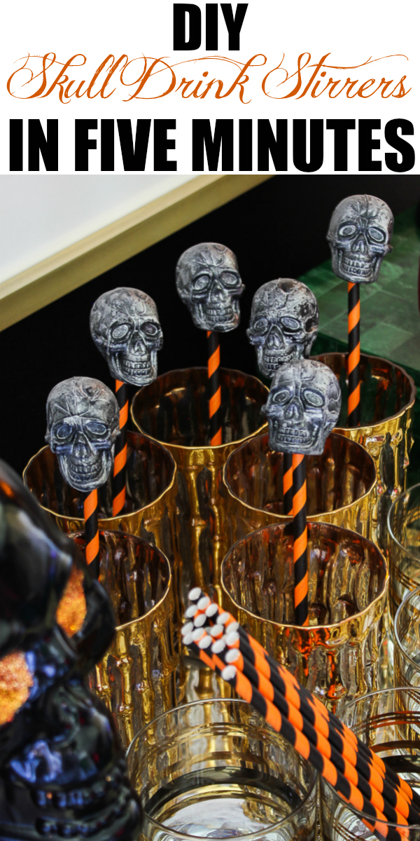 DIY Skull Drink Stirrers in Five Minutes - an easy Halloween decoration!