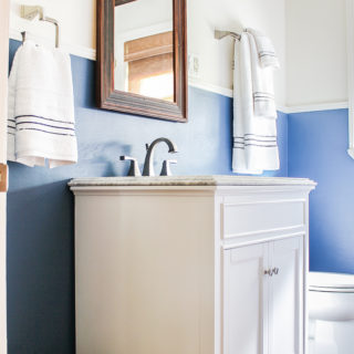 Traditional Nautical Farmhouse Bathroom Renovation