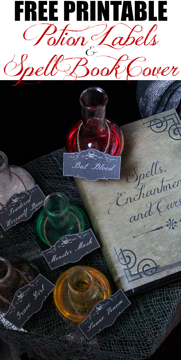 Printable Book Cover Labels : Free printable spell book cover and potion labels