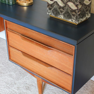 Mid-Century Modern Dressing Table Makeover