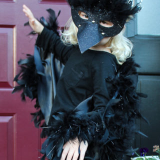 I want to be a crow. Halloween Crow Costume for Kids