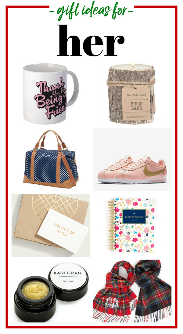 Gifts for Her - gift ideas for women of any age from 5 to 75.