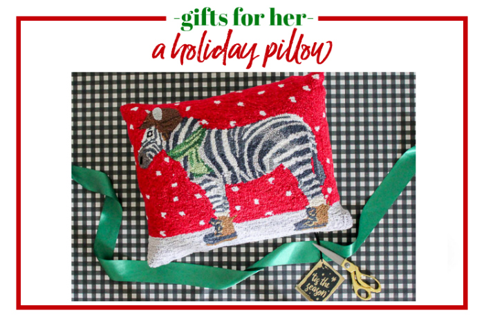 Gifts for Her - a holiday pillow.