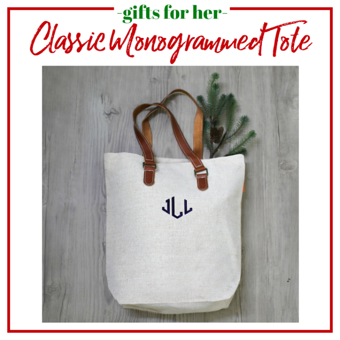 Gifts for Her - classic monogrammed tote.