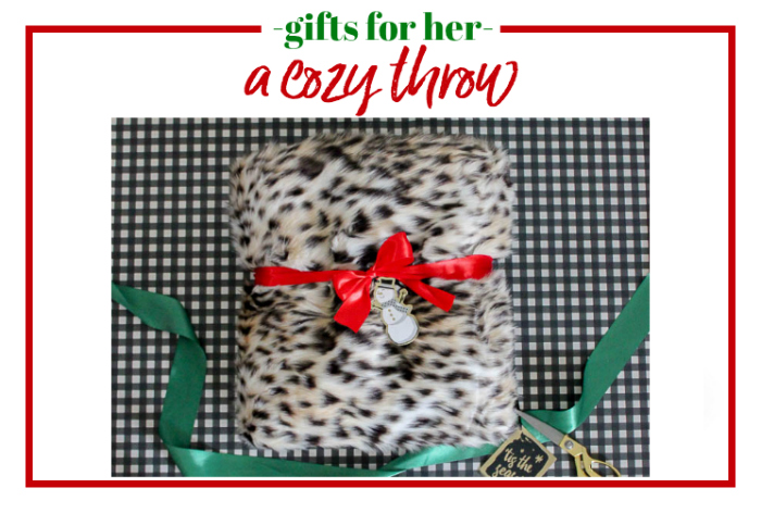 Gifts for Her - a cozy throw