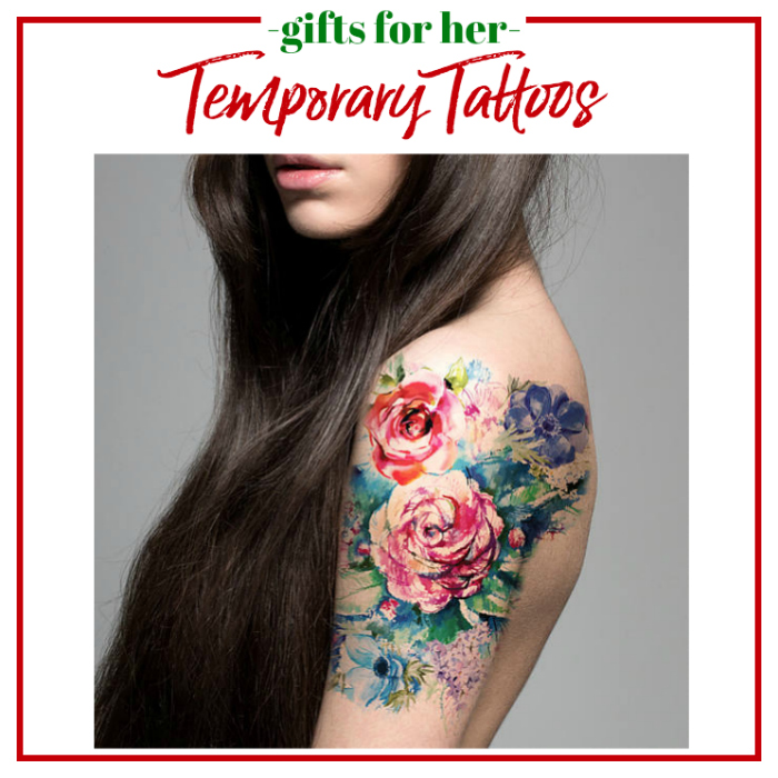 Gifts for Her - temporary tattoos that look oh so real!
