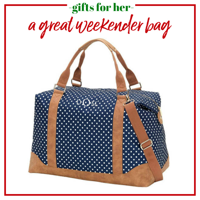 Gifts for Her - a great weekender bag.