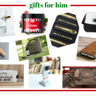 Gifts for Him - great list of gift ideas for guys for Christmas, birthdays or whenever! Lots of different items at different price points!