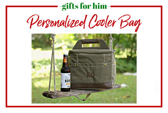 Gifts for Him - personalized cooler bag.