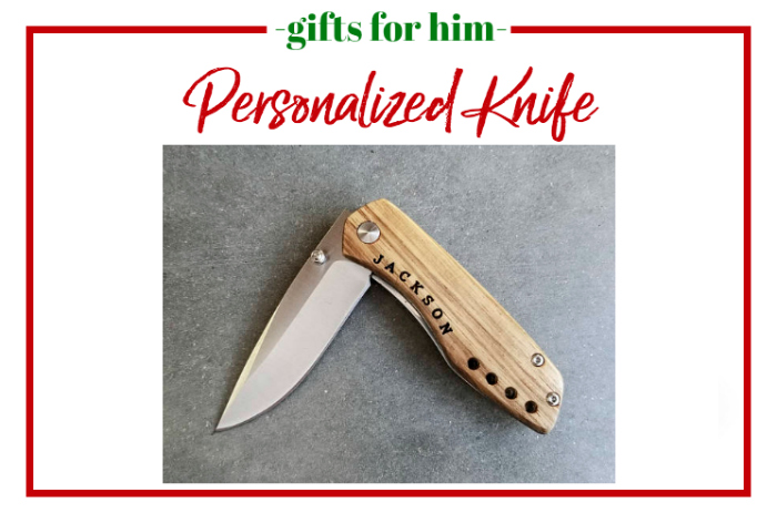 Gifts for Him - personalized knife.