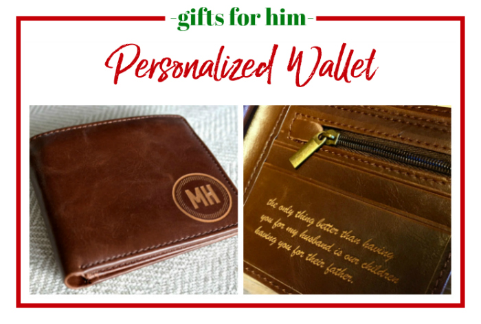 Gifts for Him - personalized wallet.