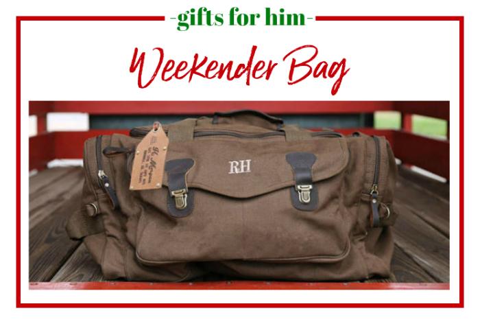 Gifts for Him - weekender bag.