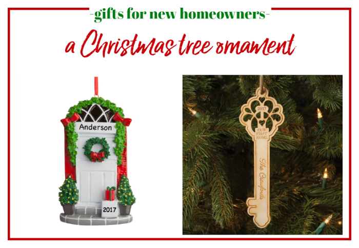Gifts for New Homeowners - Personalized Christmas tree ornament.