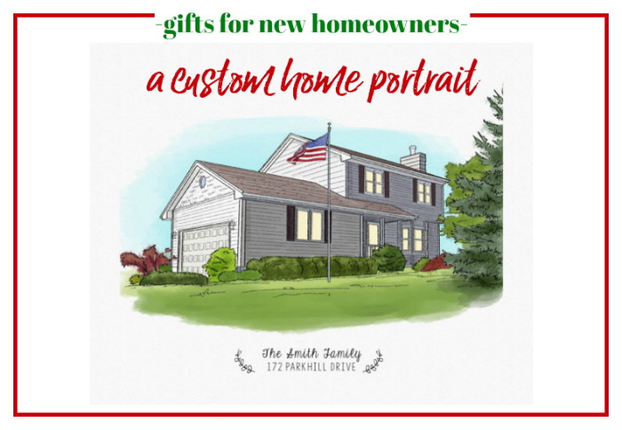 Gifts for New Homeowners - A Custom House Portrait