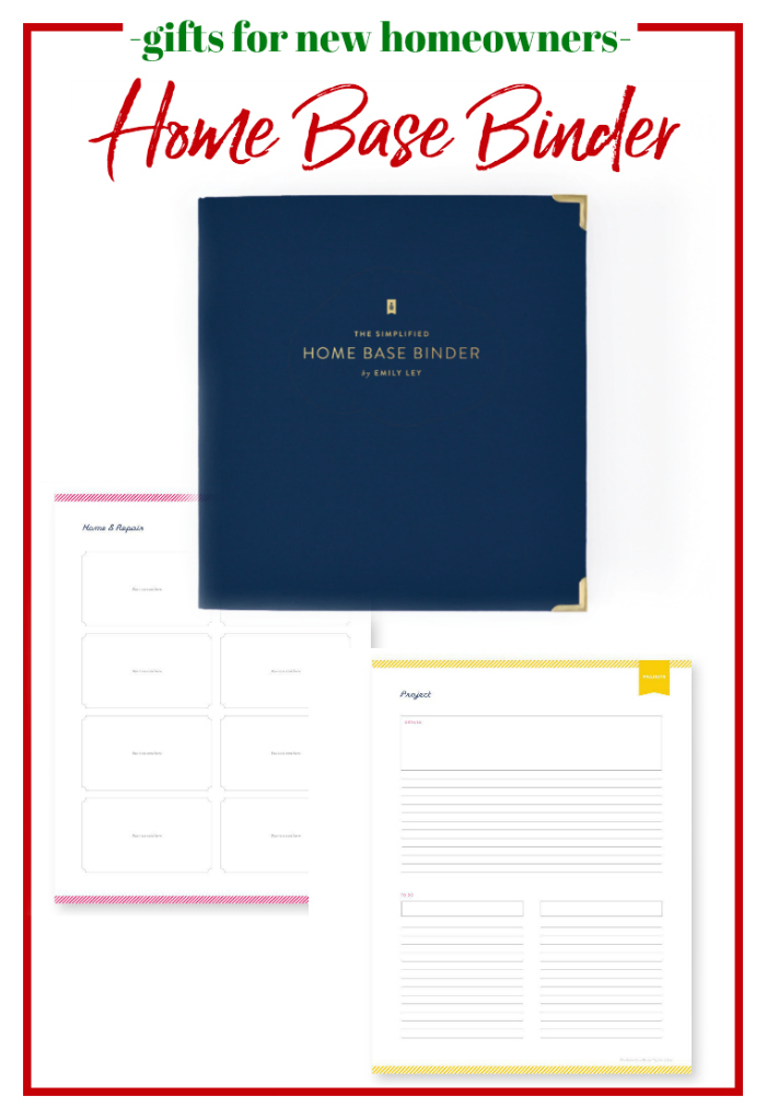 Gifts for New Homeowners - Home Base Binder