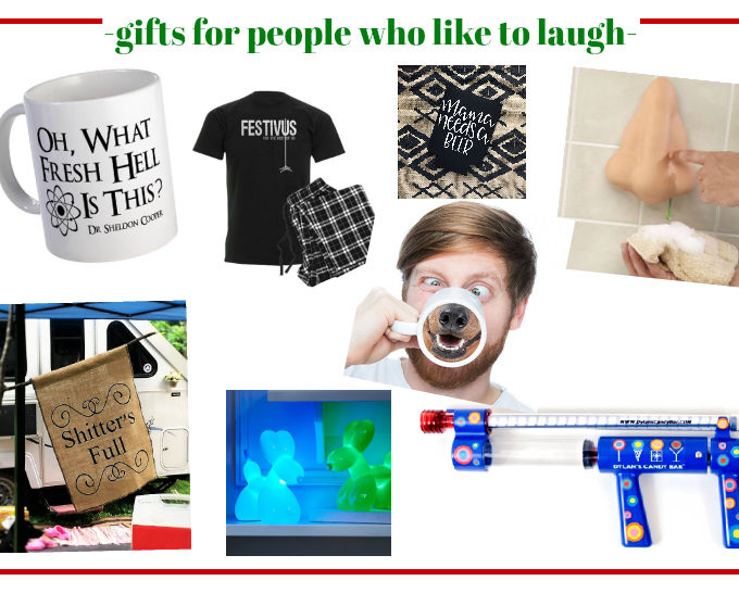Gifts for People Who Like to Laugh - great list of holiday gift ideas for those smarty pants people on your list and those who have a good sense of humor!