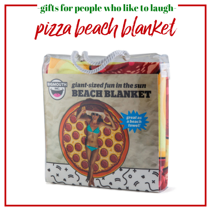 Gifts for People Who Like to Laugh - Pizza Beach Blanket