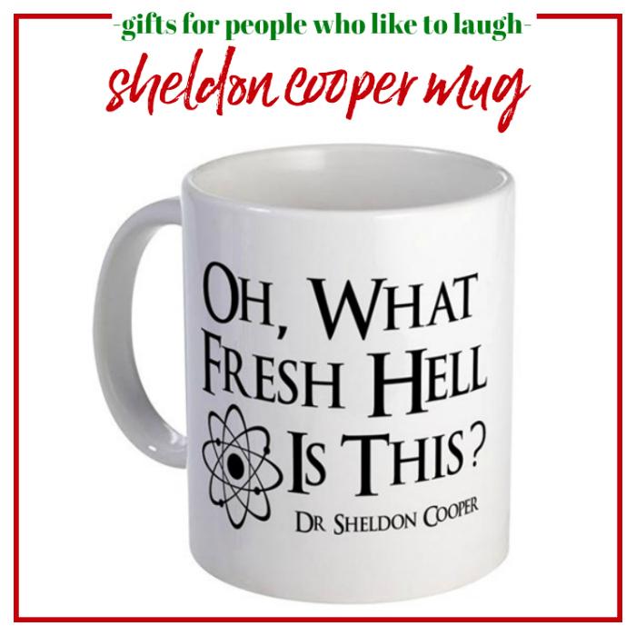 Gifts for People Who Like to Laugh - Sheldon Cooper Mug