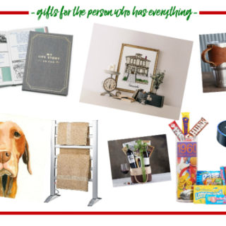 Gift Ideas for the Person Who Has Everything - unique and affordable gift ideas for that hard to buy for person on your list!