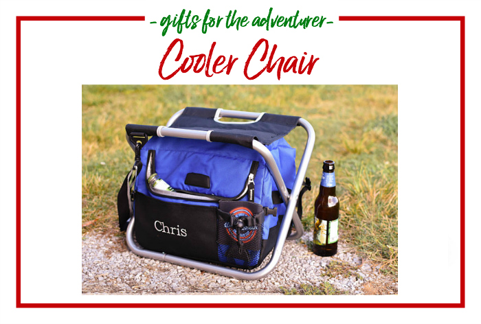 Gift Ideas for the Adventurer - Cooler chair, keeps drinks cold and doubles as a chair.