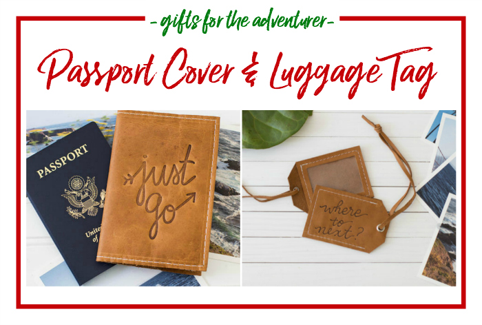 Gift Ideas for the Adventurer - passport cover wallet and luggage tag