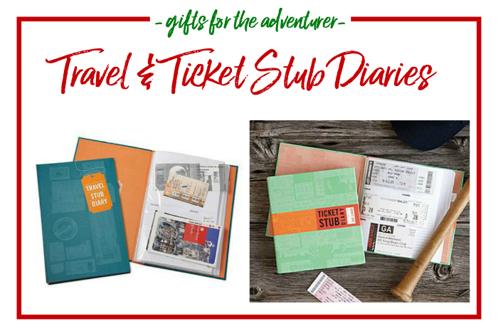 Gift Ideas for the Adventurer - travel and ticket stub diaries