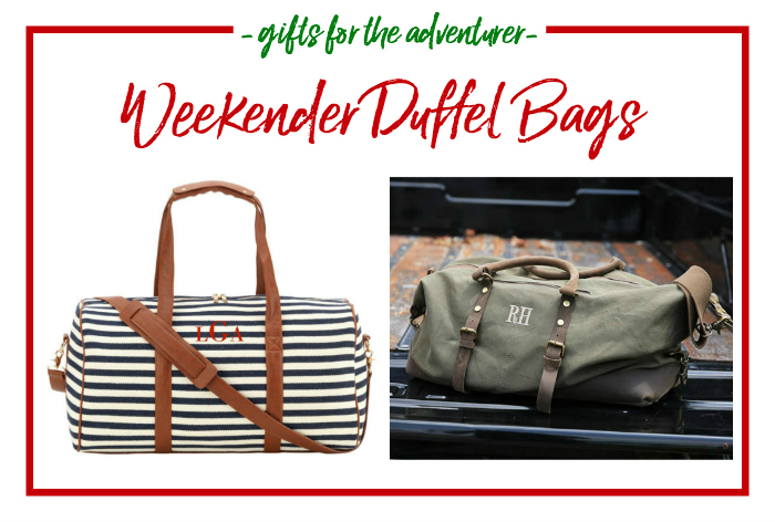 Gift Ideas for the Adventurer - every adventurer needs a great duffel bag.