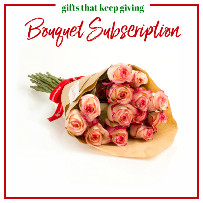 Gifts that Keep Giving - Bouquet or Flower Monthly Subscription
