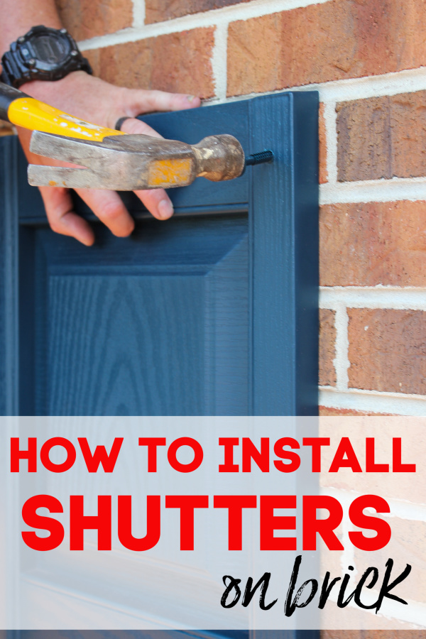 How to Hang Vinyl Shutters on Brick Exteriors