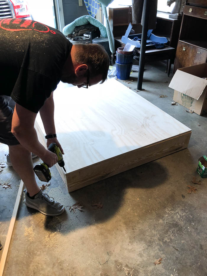 How to Build a Children's Stage - assembling the base.