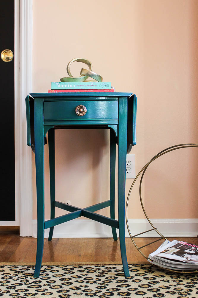 How to get a layered Caribbean Blue Look When Painting Furniture