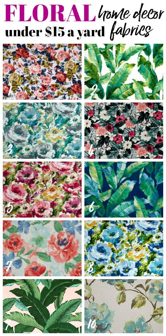 Floral Cheap and Affordable Home Decor and Upholstery Fabric by the yard