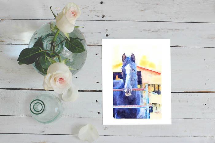 Use these printable horse images as free wall art for your home. Includes watercolor, color and black and white versions.