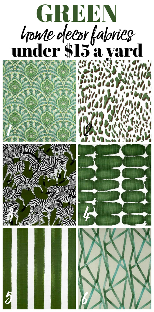 Green Cheap and Affordable Home Decor and Upholstery Fabric by the yard