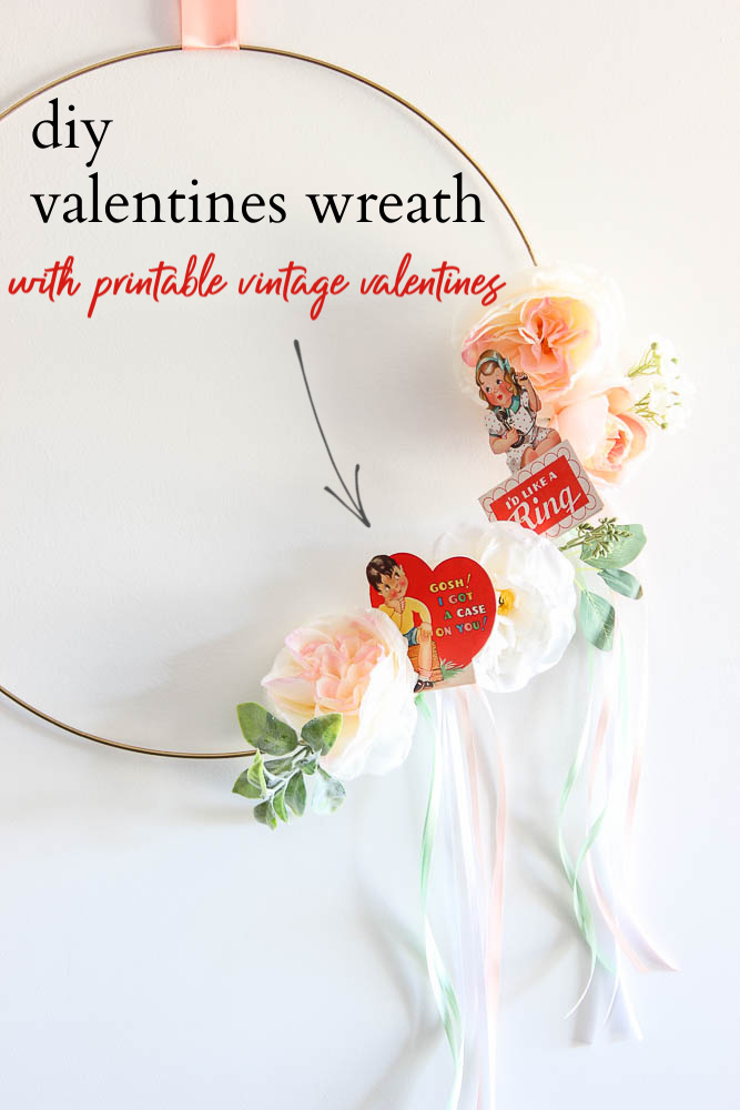 how to make a valentine wreath with a vintage feel