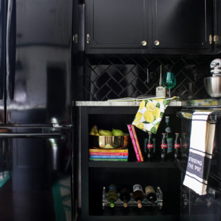 Best Paint for Cabinets - Black Kitchen Cabinets - Rain on a Tin Roof