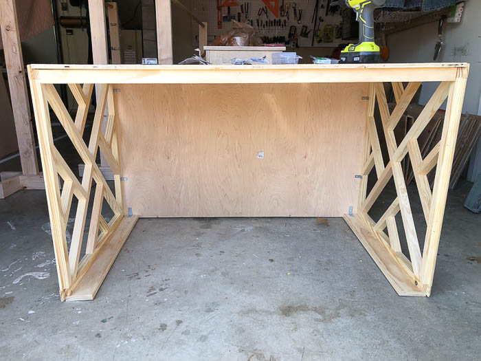 DIY Desk Idea - Make a chippendale style desk easily.