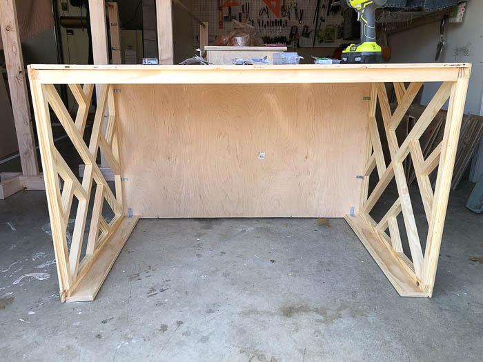 DIY Desk Idea - Make a chippendale style desk easily.