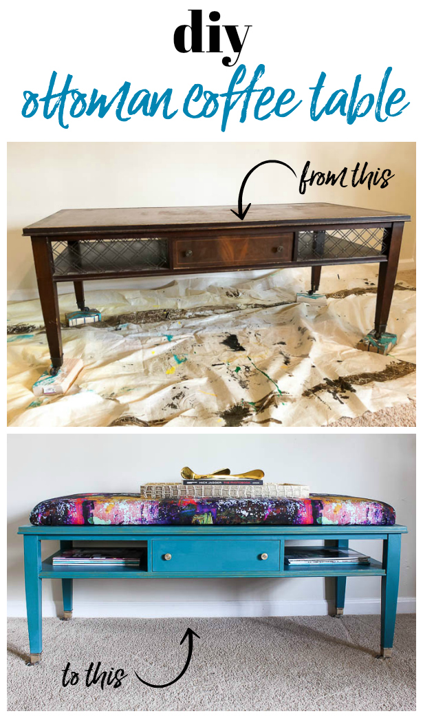 Nice How To Make An Ottoman Out Of An Old Coffee Table   Easy DIY Project For