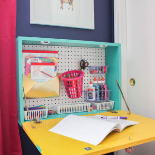 DIY Wall Mounted Desk - space saving - Rain on a Tin Roof