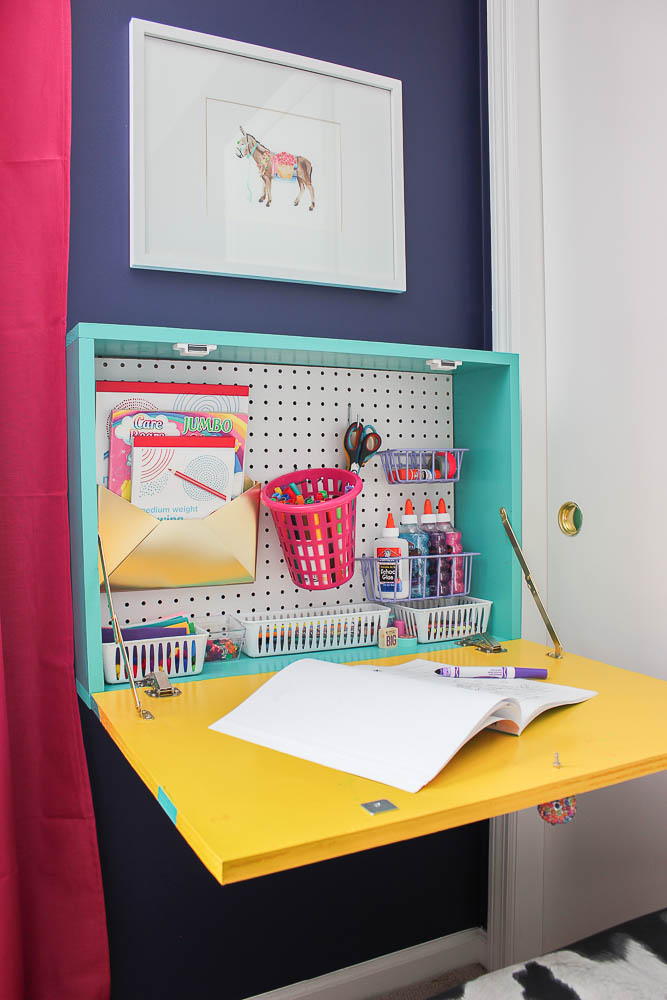 Diy Wall Mounted Drop Down Desk Perfect For Kids Or S An Easy Project
