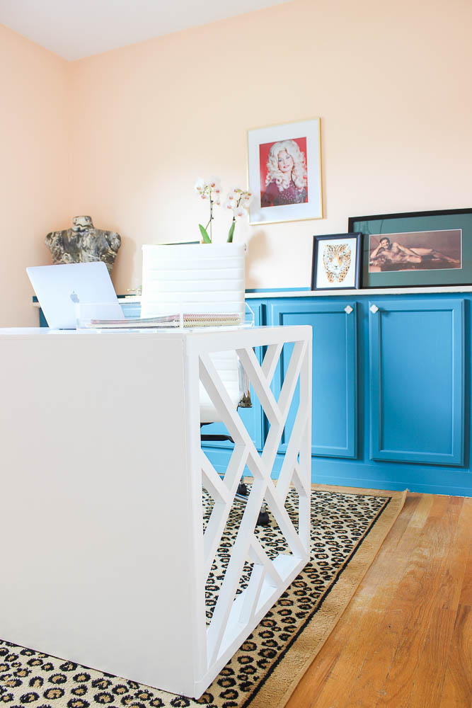 Easy DIY Desk Plan - How to Build a Chippendale Desk