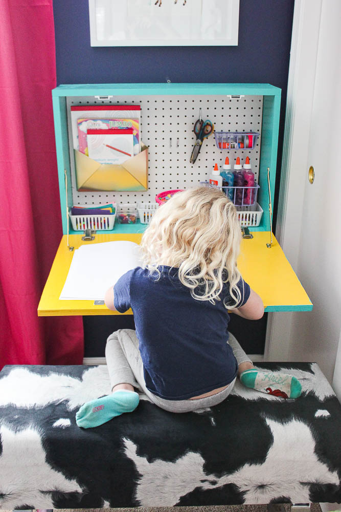 Renovated Split-Level Home Tour Full of Color and Character - The Little Girl's Bedroom