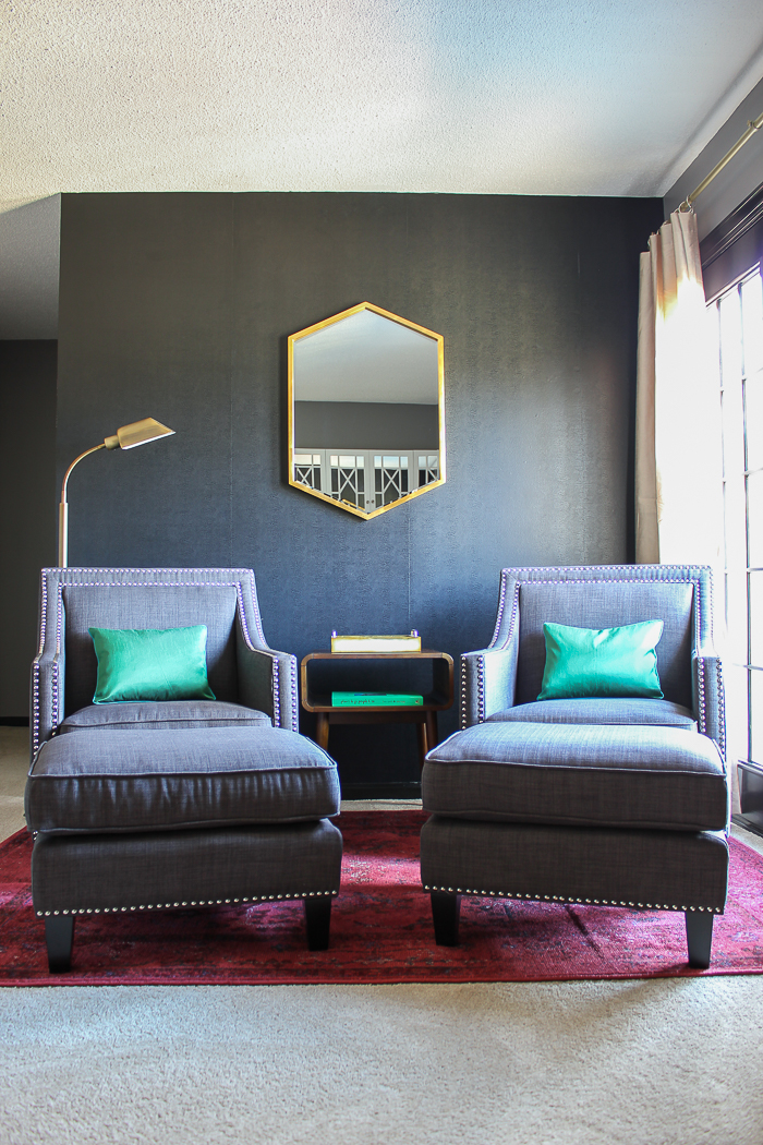 Renovated Split-Level Home Tour Full of Color and Character - The Master Bedroom Sitting Area