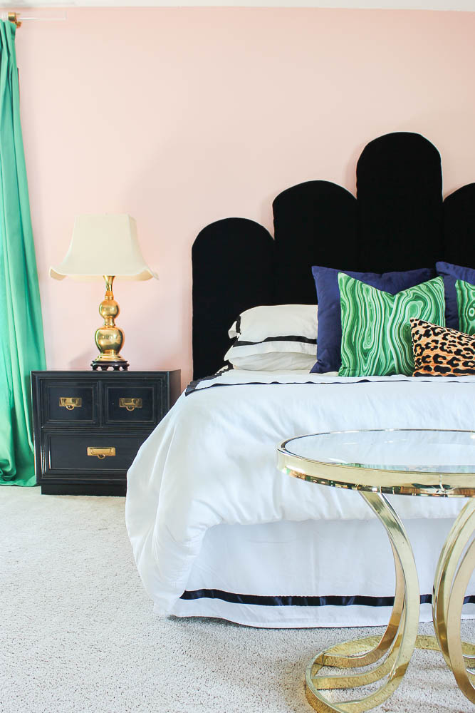 Renovated Split-Level Home Tour Full of Color and Character - Palm Beach Chic Master Bedroom