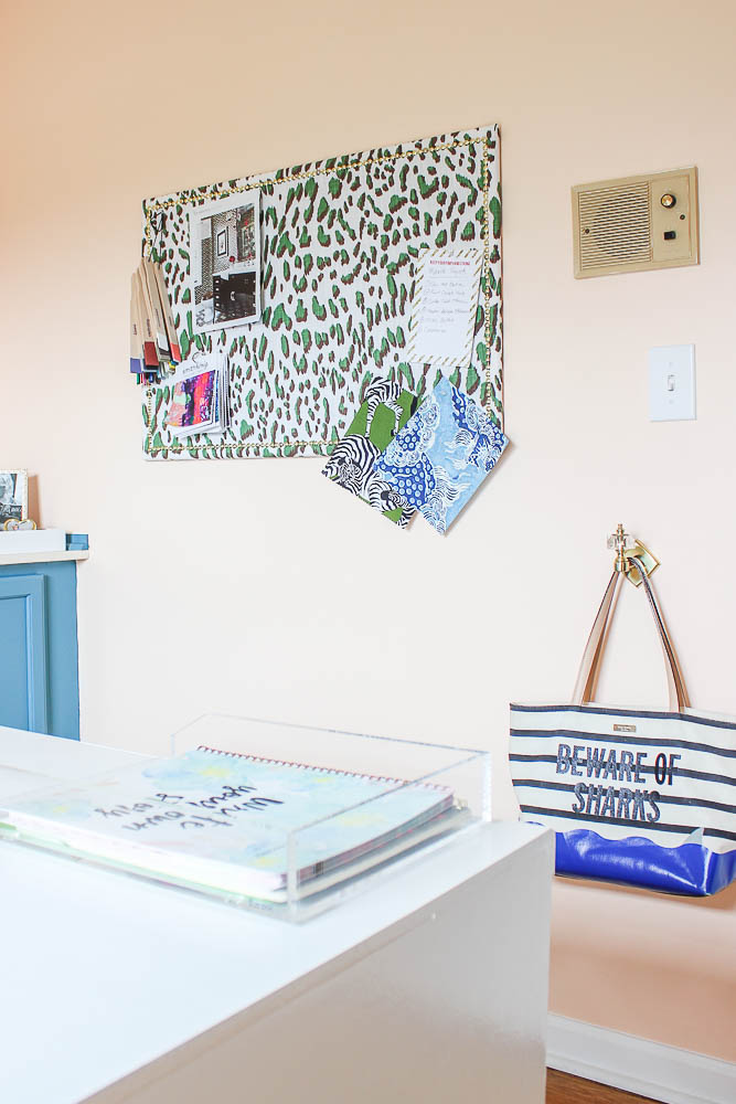 Home Office Makeover Idea: DIY Fabric Covered Bulletin Board