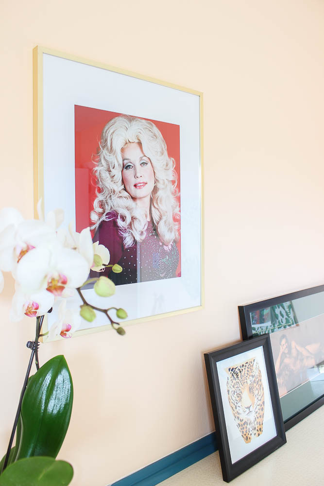 Home Office Makeover Ideas - framed picture of Dolly Parton