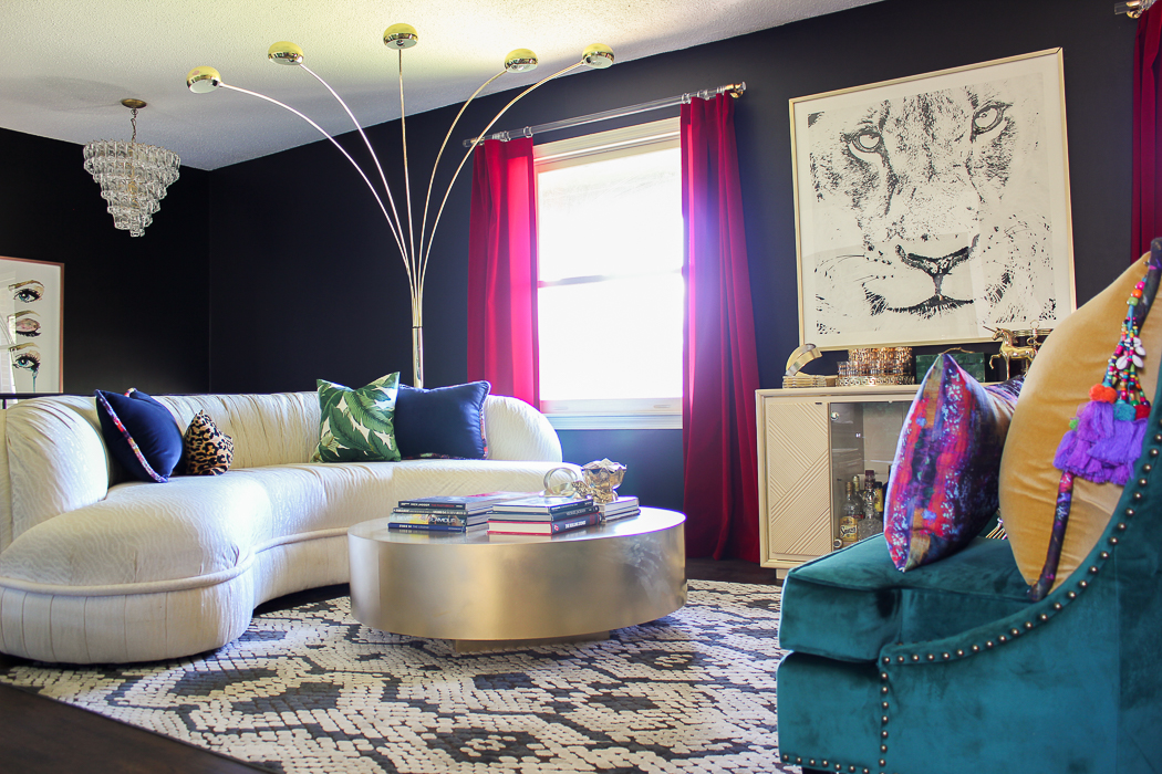 Renovated Split Level Home Tour Full Of Color And Character   70u0027s Inspired  Living Room