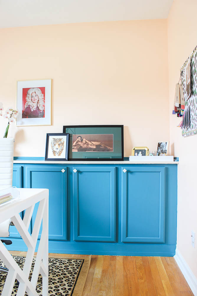 DIY Built In Home Office Cabinets