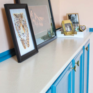DIY Countertops: Upholstered Countertop for Built In Cabinets and Other Ideas